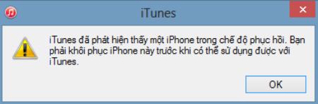 iPhone 6 bị vô hiệu hóa