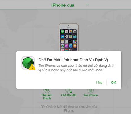 iPhone 6 bị báo mất