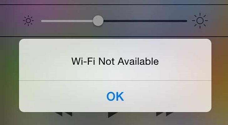 iPhone 6 bị mất wifi