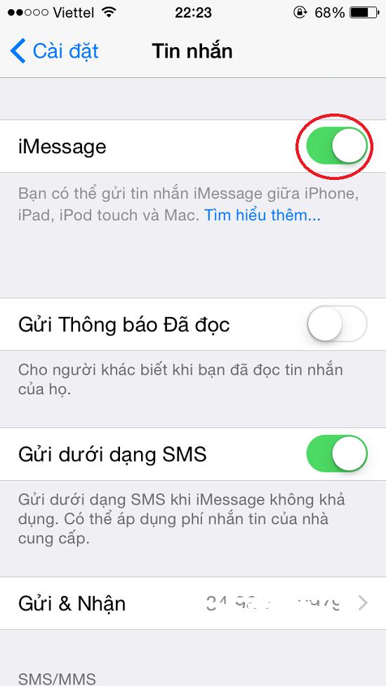 iPhone 6 không nhận được tin nhắn