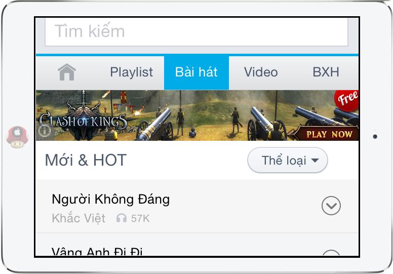 Tải nhạc iPad Air không cần iTunes