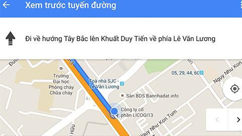 tính năng dẫn đường google maps